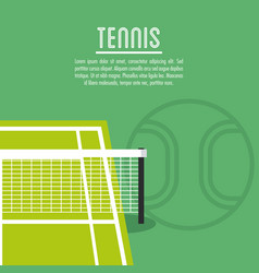 League of tennis sport design vector