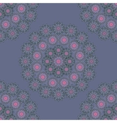 Mandala round geometric ornament seamless pattern vector