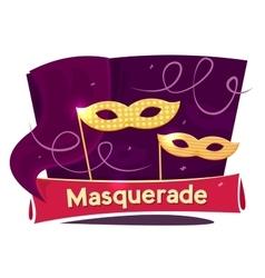 Masquerade concept design vector