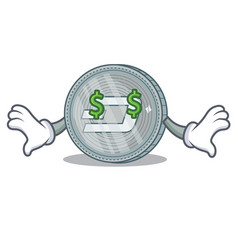 money eye dash coin character cartoon vector image