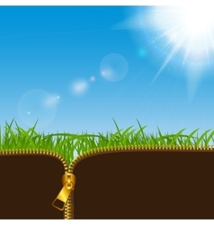 Natural Sunny Background vector image vector image