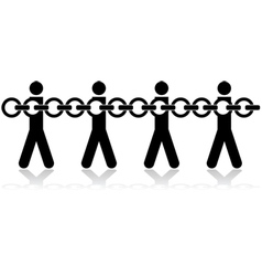 People chained vector image vector image