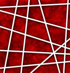 Red abstract geometric background with white paper vector
