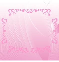 Romantic pink background with ornate elements vector image