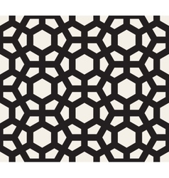 Seamless Black And White Hexagonal Pattern vector image vector image