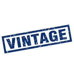 Square grunge blue vintage stamp vector