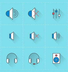 Technology icons icon set in flat design style For vector image vector image
