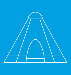 Tepee tent icon outline style vector