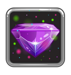 The application icon with gem vector