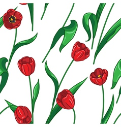 Tulip pattern big vector