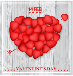 Valentine day card design vector