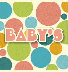 vintage dots color circles background baby design vector image