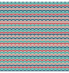 Waves seamless pattern in retro colors vector image