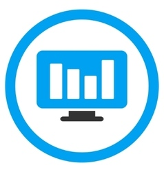 Bar chart monitoring rounded icon vector