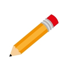 Pencil write draw school isolated vector