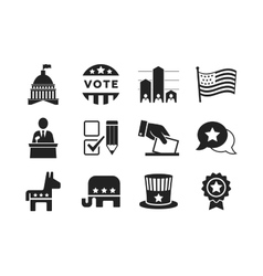 Political icons set vector