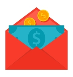 Message money transfer concept vector