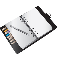 Blank notebook planner vector image