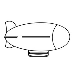 Vintage airship icon outline style vector