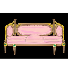 Classical style sofa vector