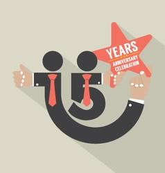 15 years anniversary typography design vector