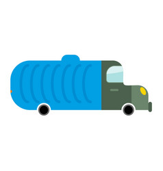 Grbage truck isolated trash automobile on white vector