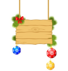 christmas board vector image
