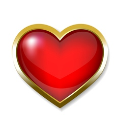 heart icon button vector image