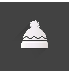 Winter snowboard cap icon vector