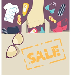 Seasonal summer sale vector