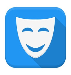 Comedy app icon with long shadow vector