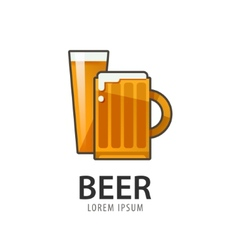 Original badge logo design icon template for beer vector