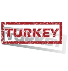 Turkey outlined stamp vector