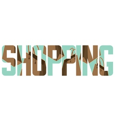 Shopping sign vector