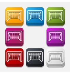 Square button gate vector