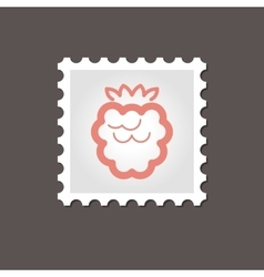 Raspberry stamp outline vector