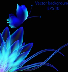Abstract background from multi-colored butterflies vector