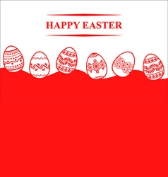 easter eggs back vector image