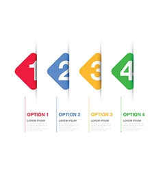 Multi coloured option background square vector