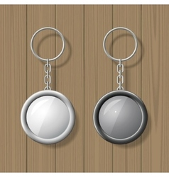 Key chain pendants mock up vector