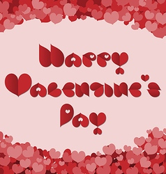 Valentines day card made with red heart font vector