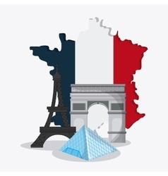 France design eiffel tower landmark vector