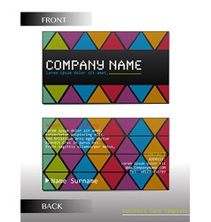 A rectangular business card vector