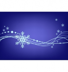 abstract blue background with snowflake vector image vector image