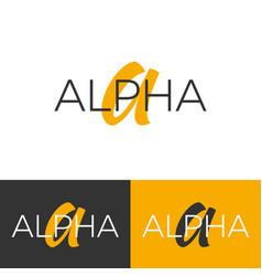 Alpha logo letter a logo logo template vector