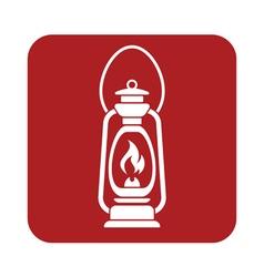 Antique old kerosene lamp vector