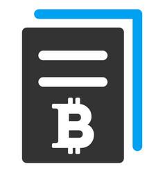 Bitcoin price copy flat icon vector