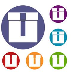 box icons set vector image vector image