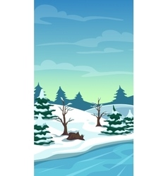 Cartoon winter landscape vector image
