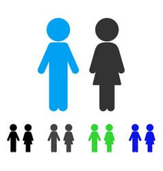 Children couple flat icon vector